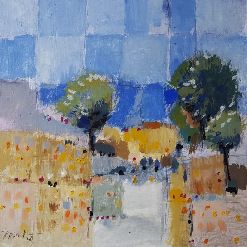 """Landscape wheat fields , 2018"",  Reisch.art"